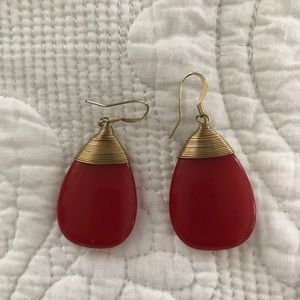 Classic Red and gold earrings